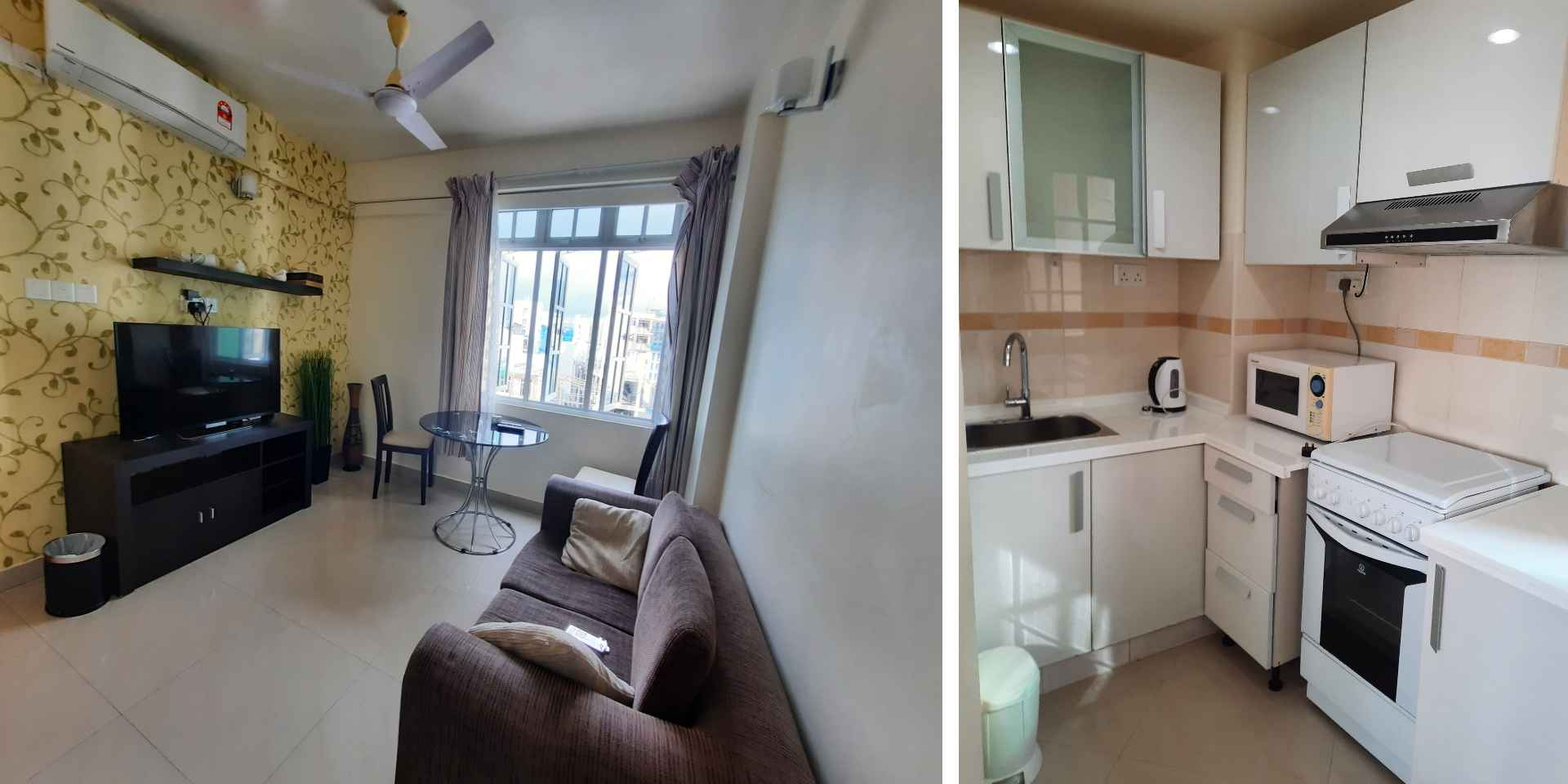 Mini-suite living area