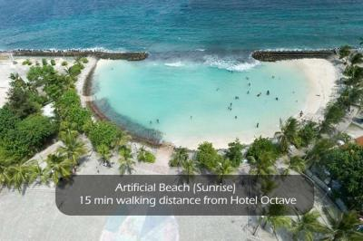 Artificial Beach - 15mins walking distance from hotel octave